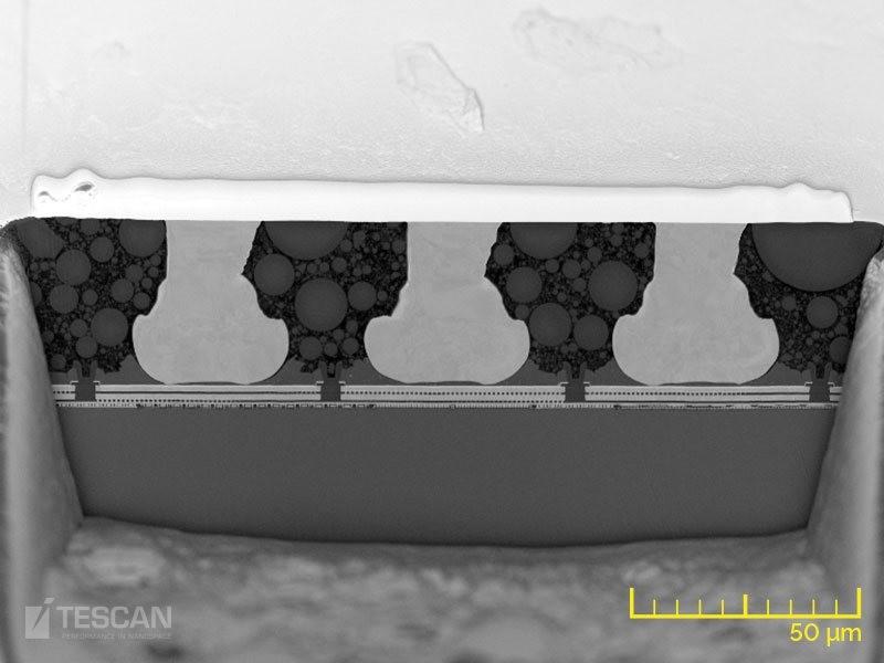 Wire bonds embedded in resin