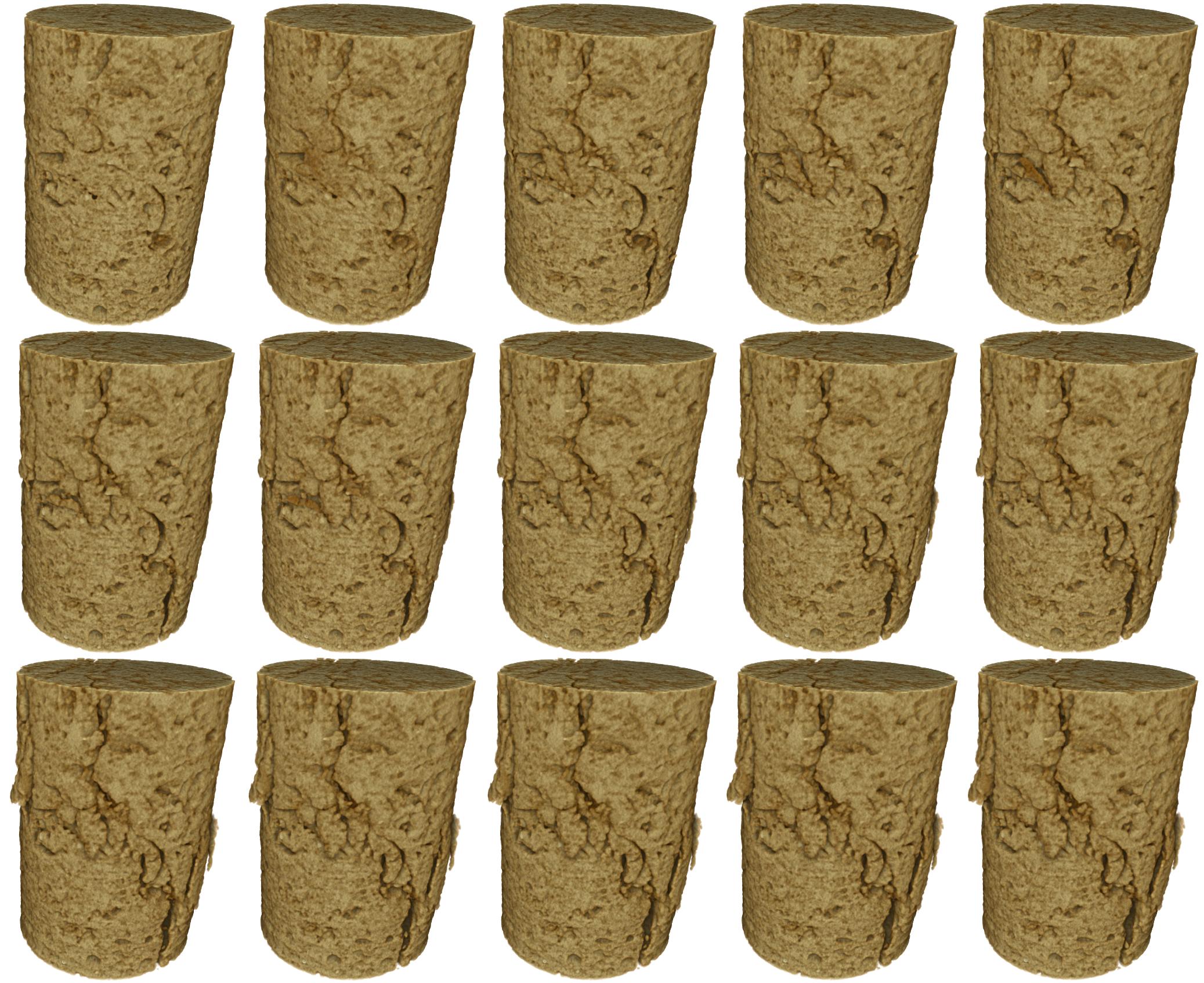 In situ dynamic compression series of limestone