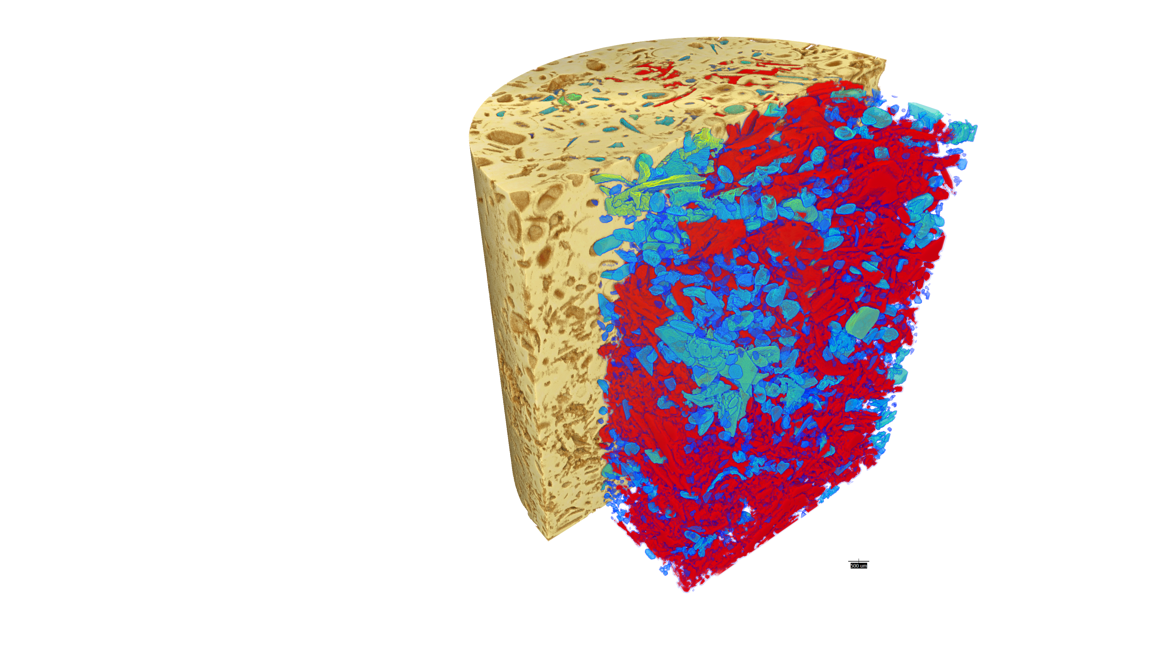 Carbonate – segmented volume of interest scan (VOIS) - Open porosity calculation