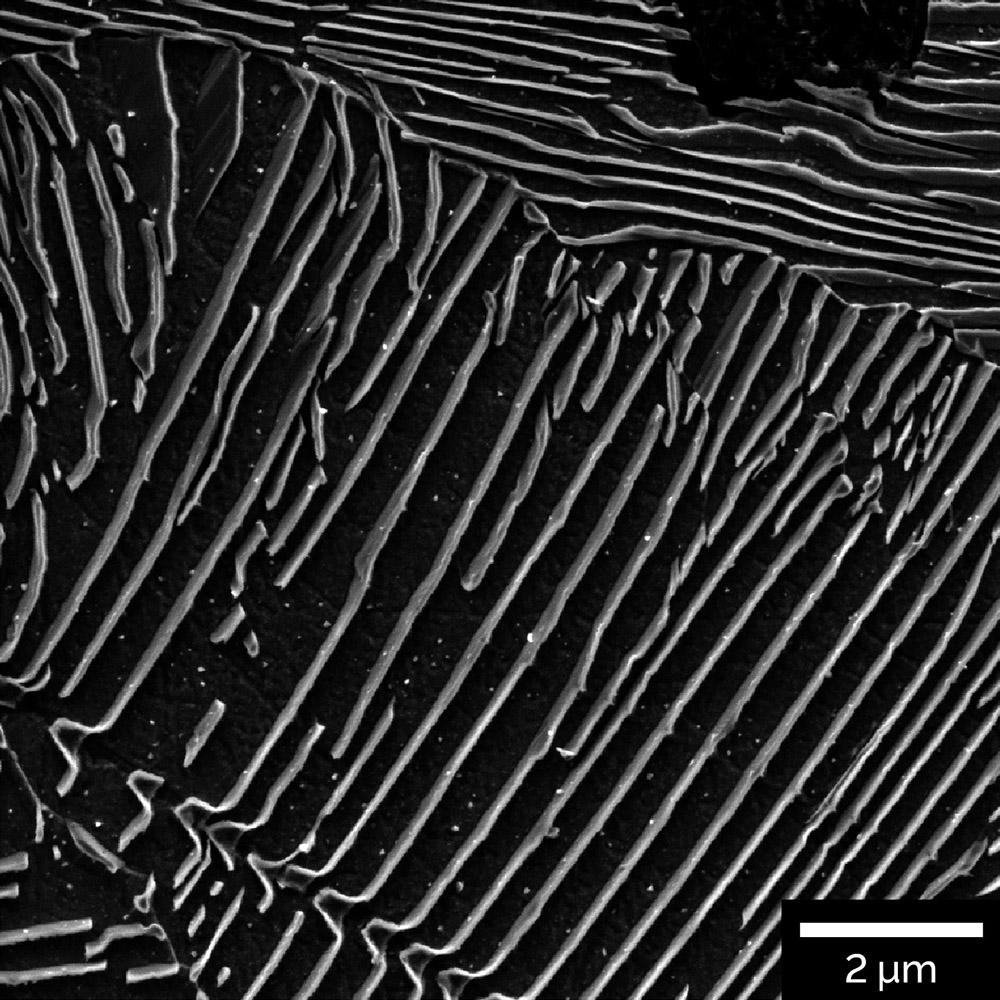 Interlamellar spacing in perlite of cast iron