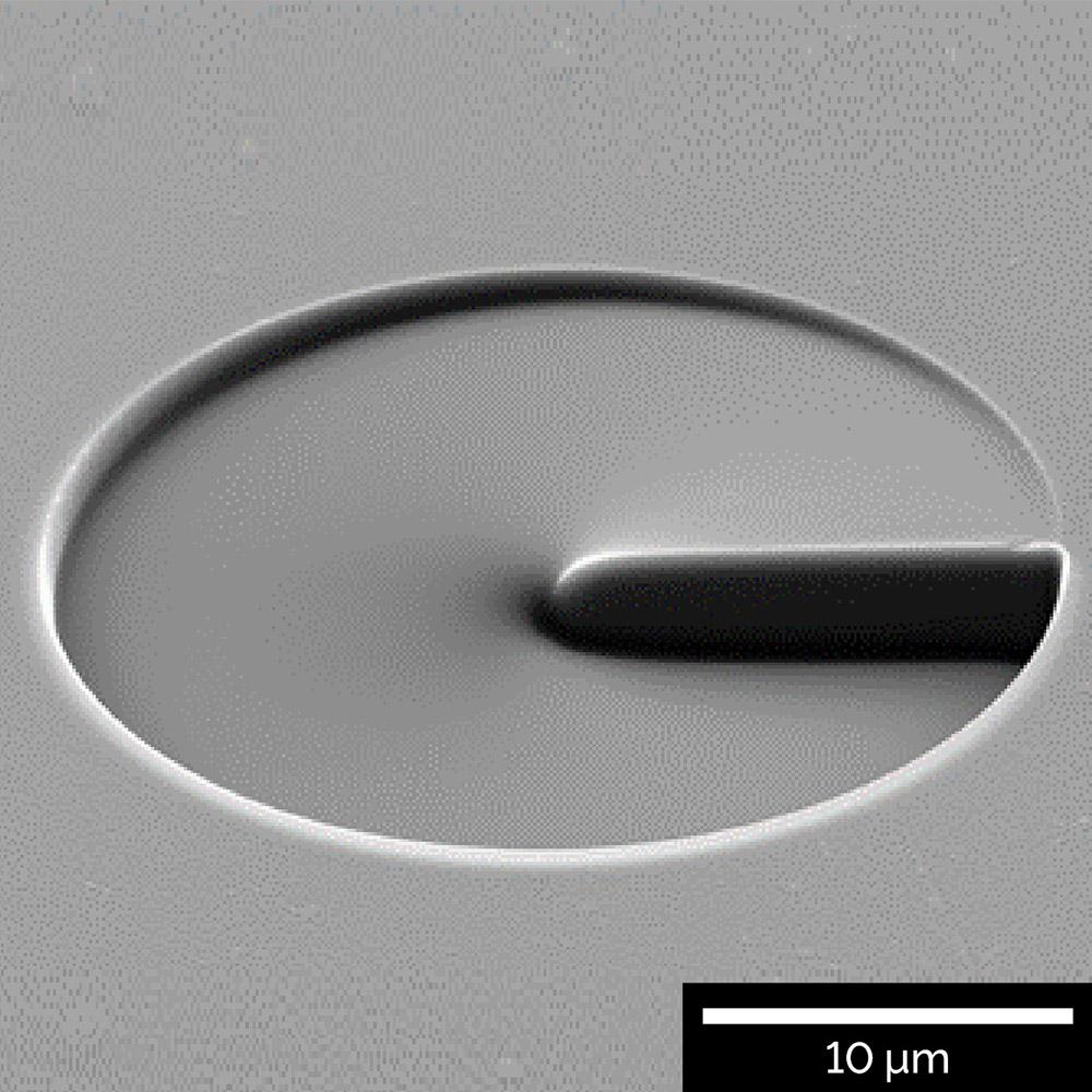 Nanofabrication of a 3D optical vortex structure using Python script
